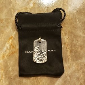 David Yurman Wave Tag Sterling Silver 925